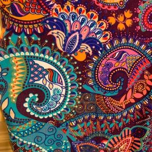 crown collection Pants - Vibrant paisley leggings